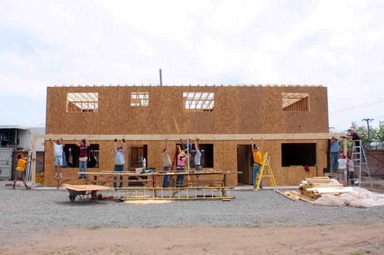 Team 2 on construction site