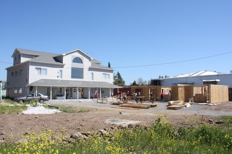 Photo fo the construction of the House of Hope caretakers house