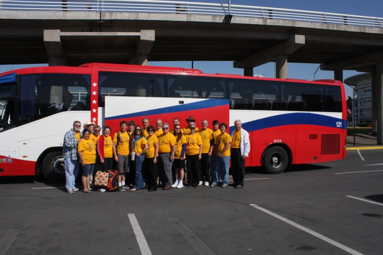 October 2010 Trip Team 1 in front of bus