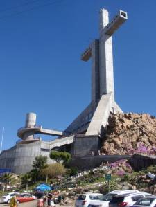 Huge Concrete Cross Structure In Coquimbo, Chile