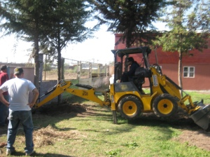 mini bulldozer/backhoe