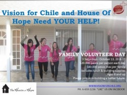 Family Volunteer Opportunity In Chile